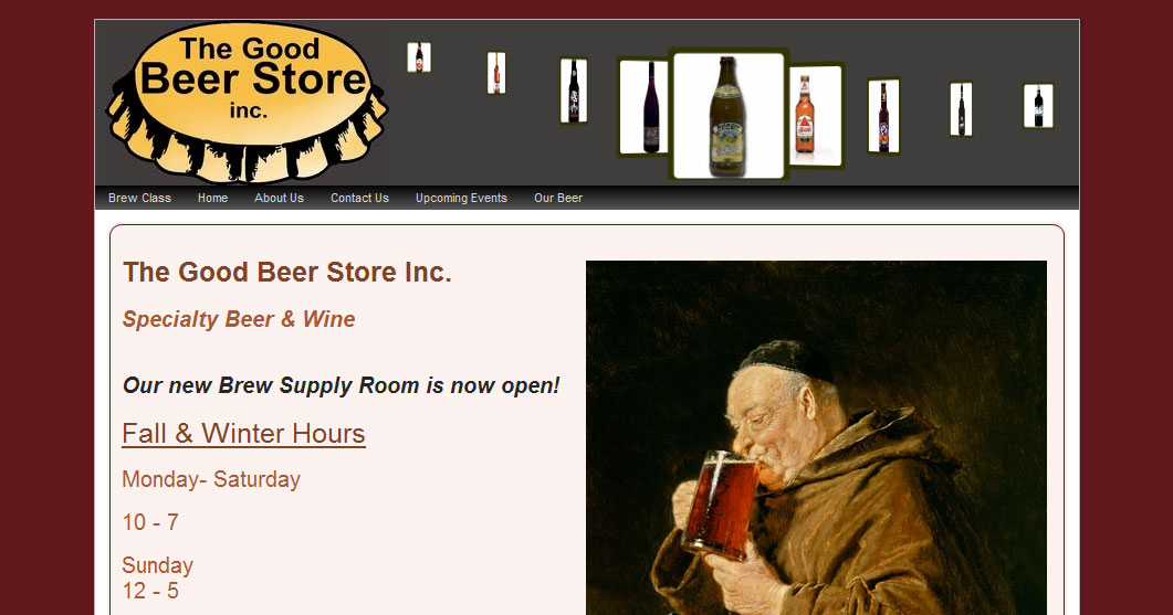 The Good Beer Store web development and hosting